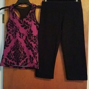 Ladies Yoga tank & crops set
